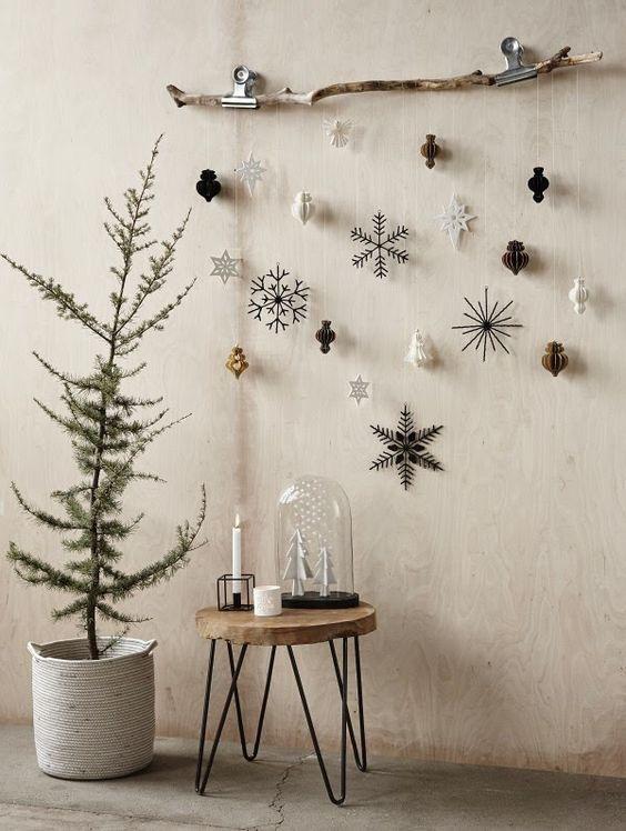 ornamentos natal decoracao parede