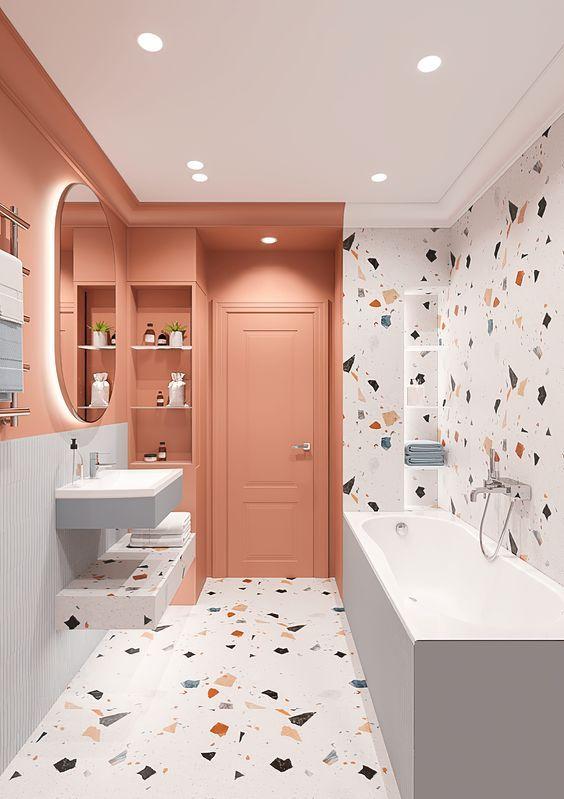 paredes rosa decoracao banheiro