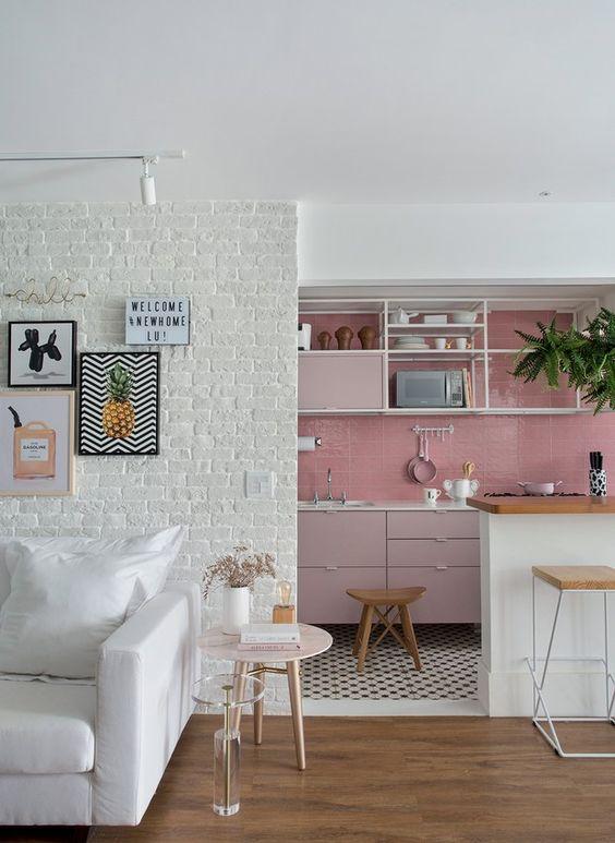 paredes rosa decoracao cozinha 2