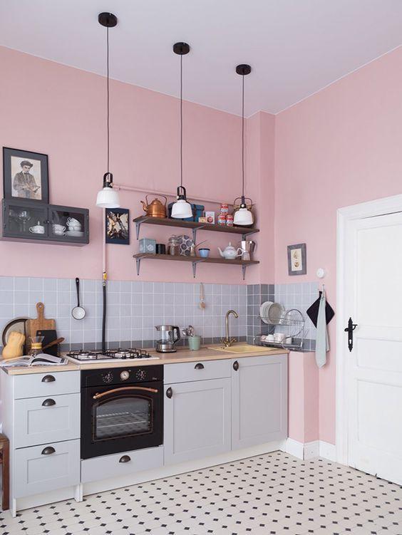 paredes rosa decoracao cozinha 3