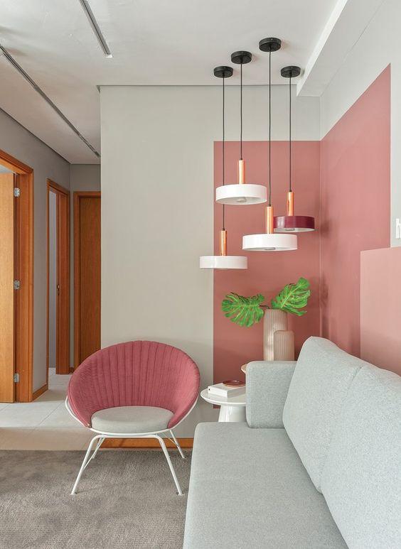 paredes rosa decoracao sala 3