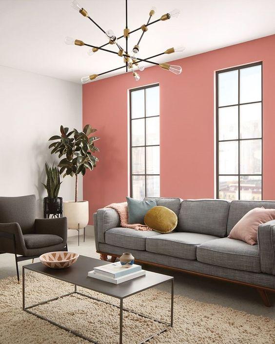 paredes rosa decoracao sala