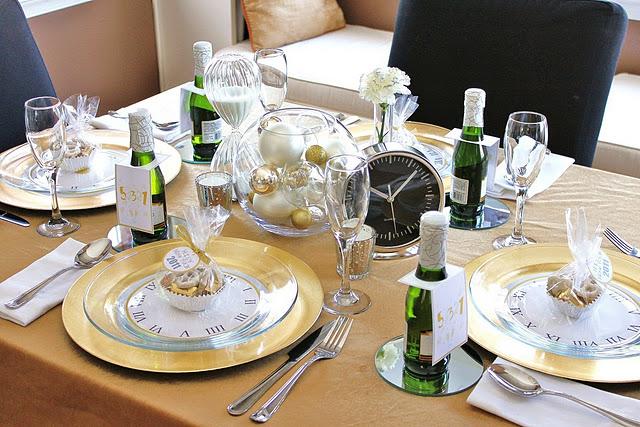 passagem de ano reveillon decoração de mesa