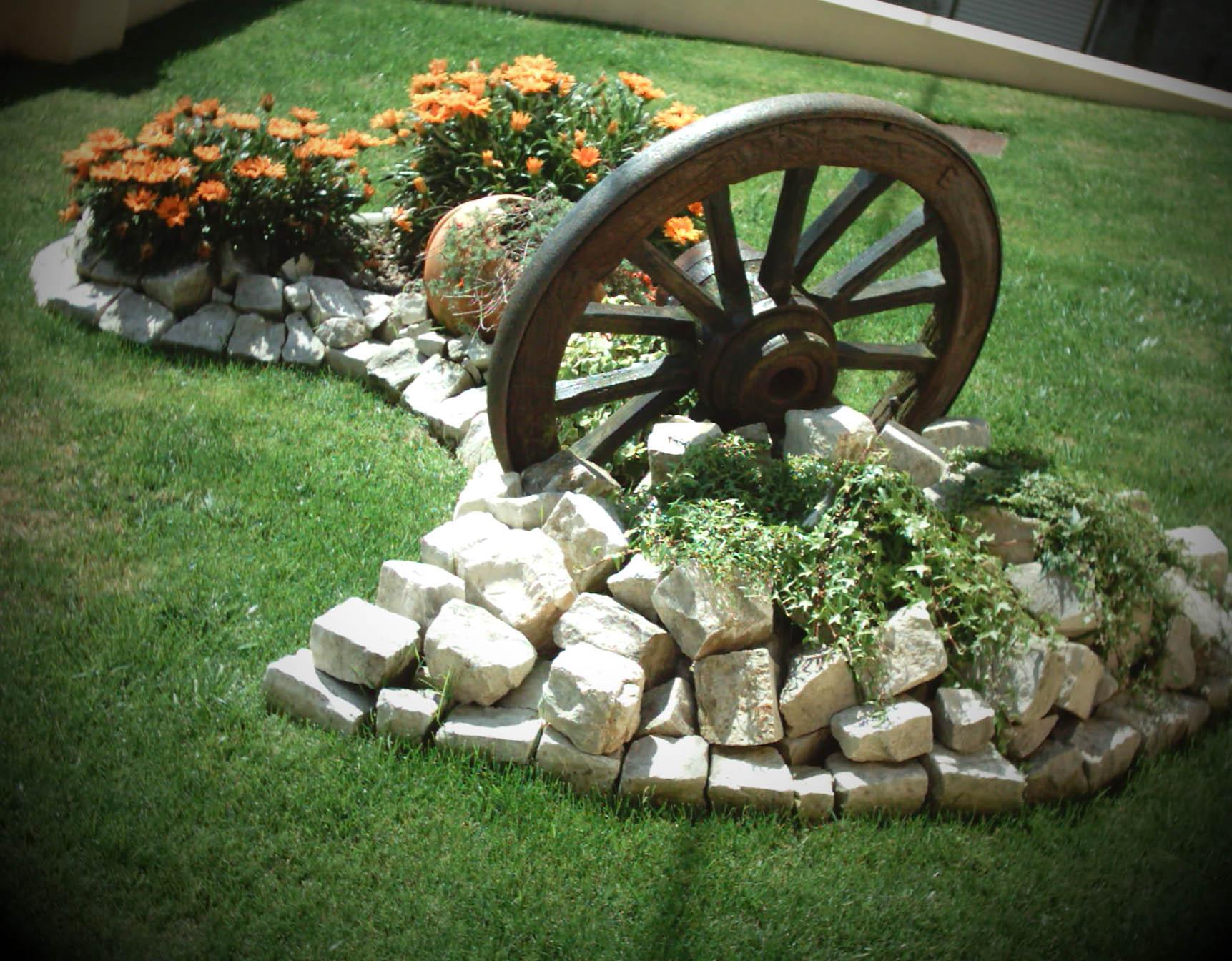 Pedras Decorativas -> Decoração De Jardins Com Pedras E Flores