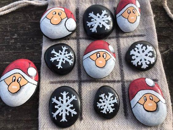 pedras decoradas pintadas jogo