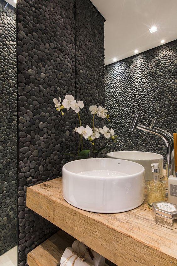 pedras decorativas banheiro 1