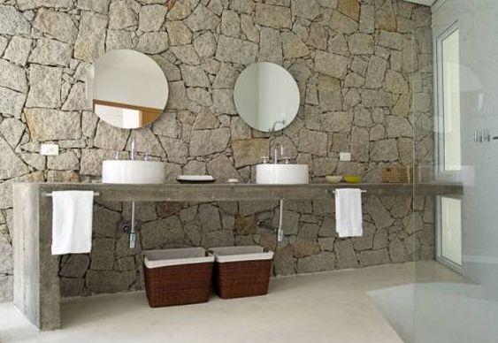 pedras decorativas banheiro