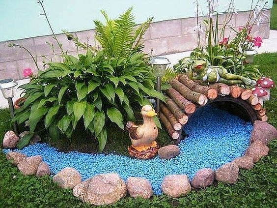 pedras decorativas jardim colorida