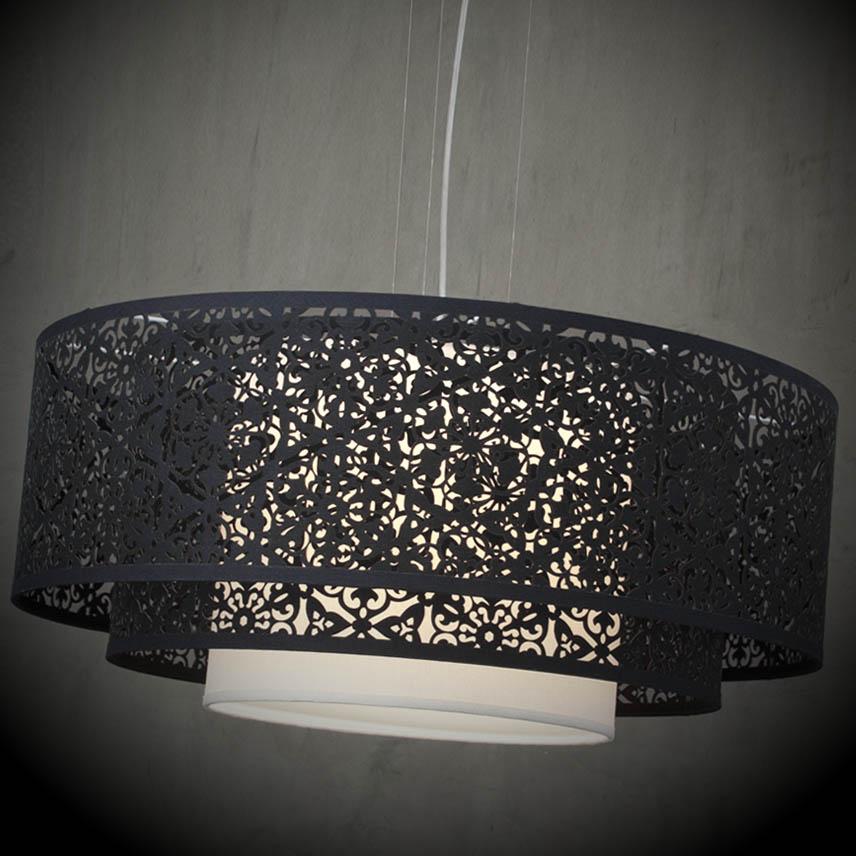 pendente luminaria teto triplo iluminacao