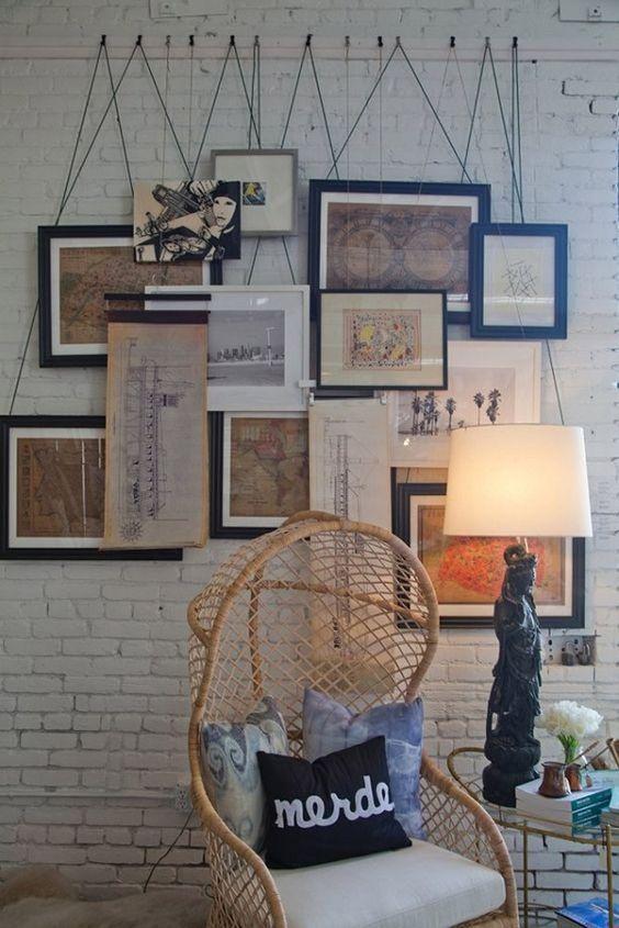 pendurar quadros sem furar parede