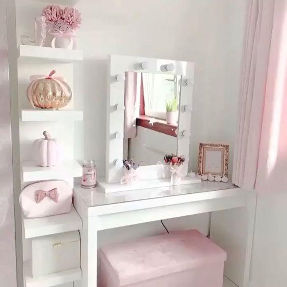penteadeira feminina rosa