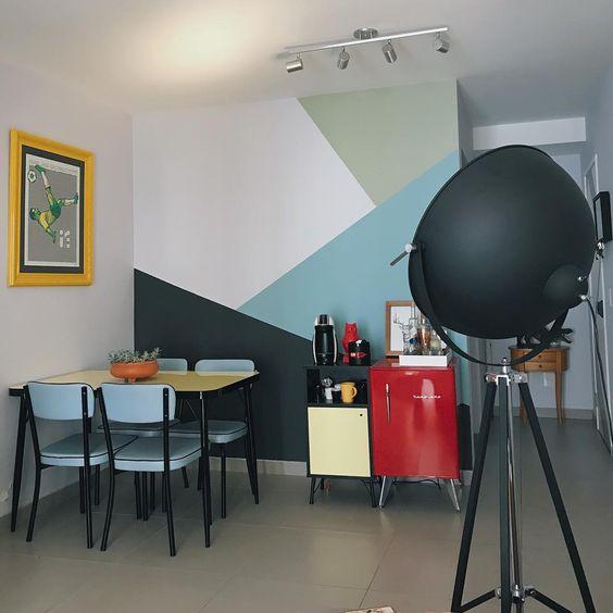 pintura.geometrica cozinha simples