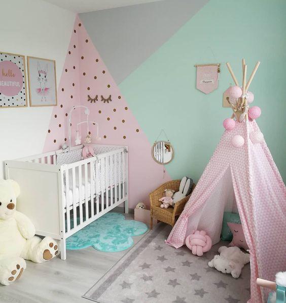 pintura.geometrica quarto crianca bebe