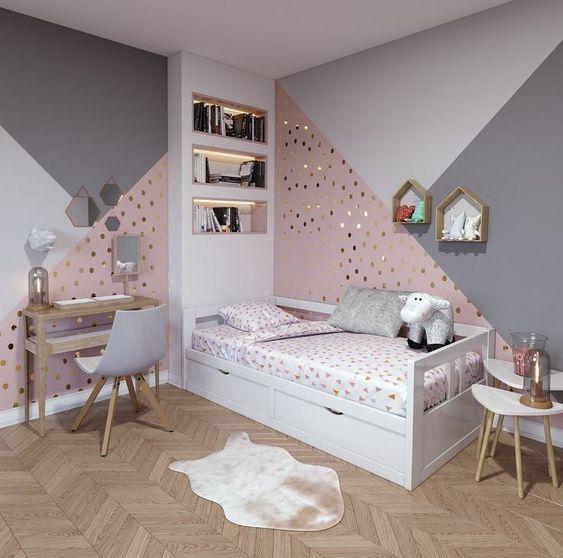 pintura.geometrica quarto crianca menina