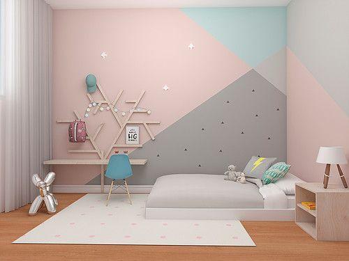 pintura.geometrica quarto crianca