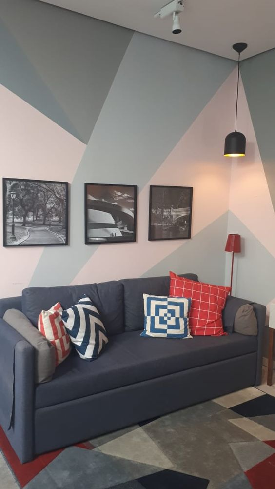 pintura.geometrica sala azul