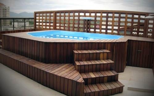 piscina com deck modelo