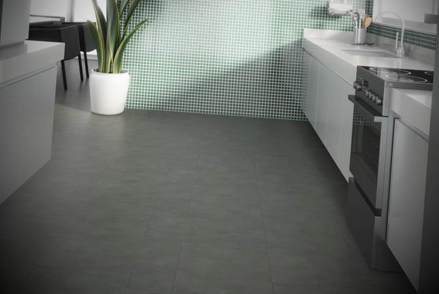 piso vinilico cozinha