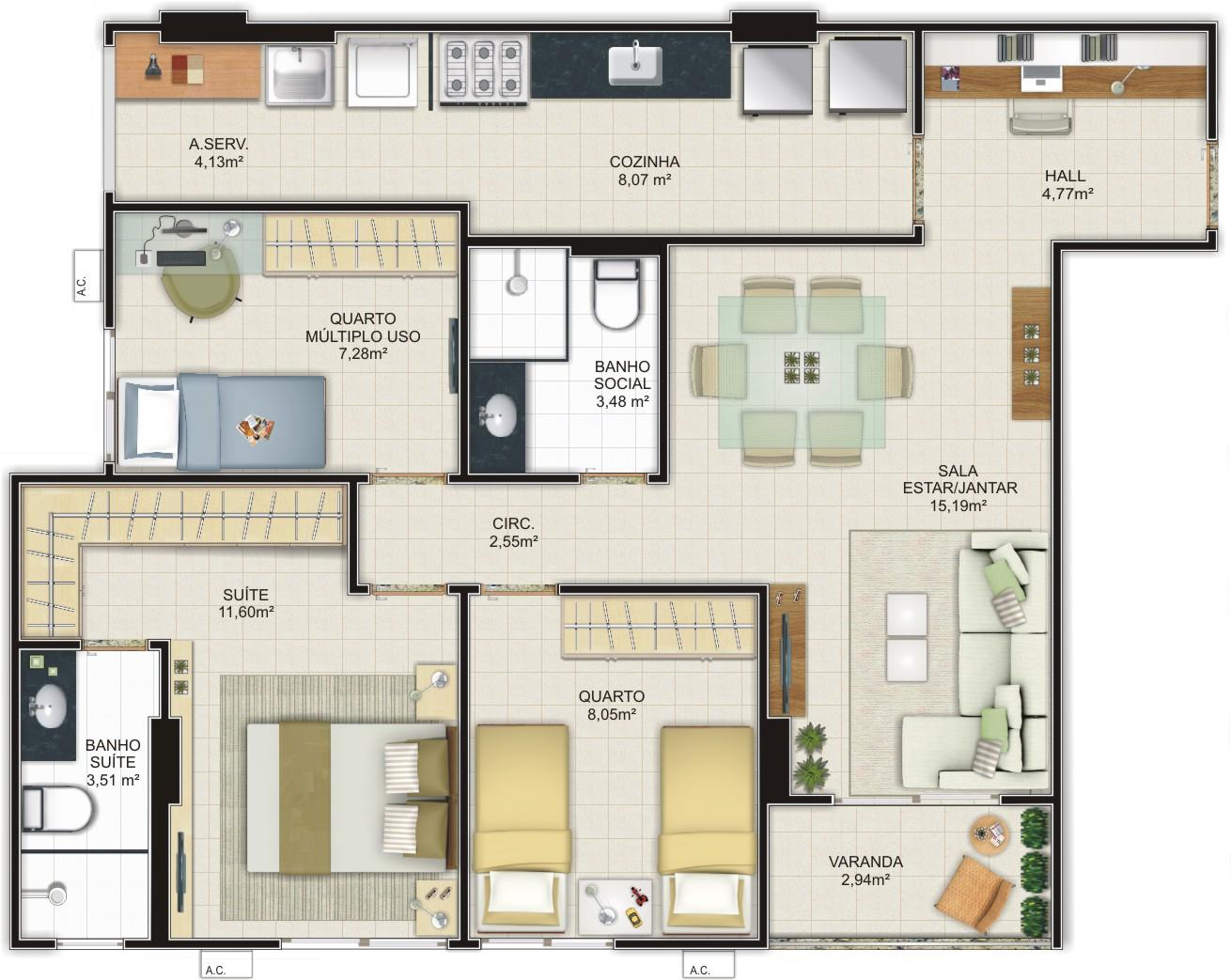 Casas modernas fachadas e plantas for Modelos de casas de una planta modernas
