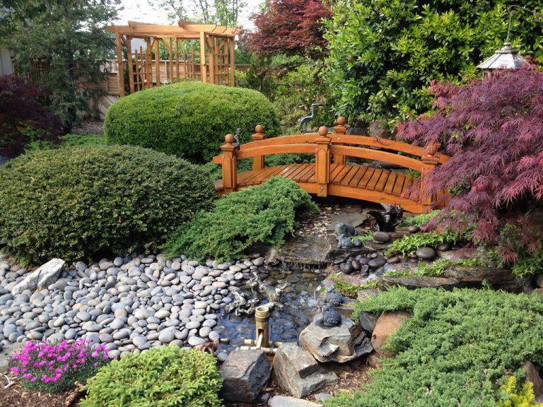 pontes decorativas para o jardim 7