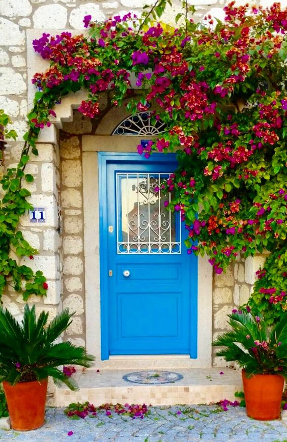 porta fachada colorida azul 3