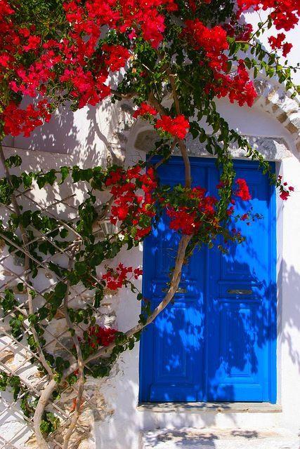 porta fachada colorida azul
