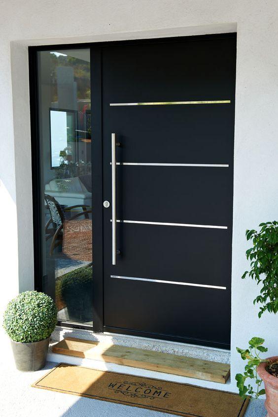 porta fachada colorida preta