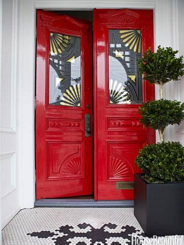 porta fachada colorida vermelha 1
