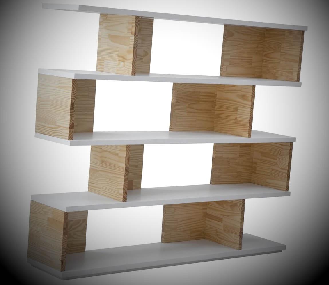 prateleira de madeira moderna