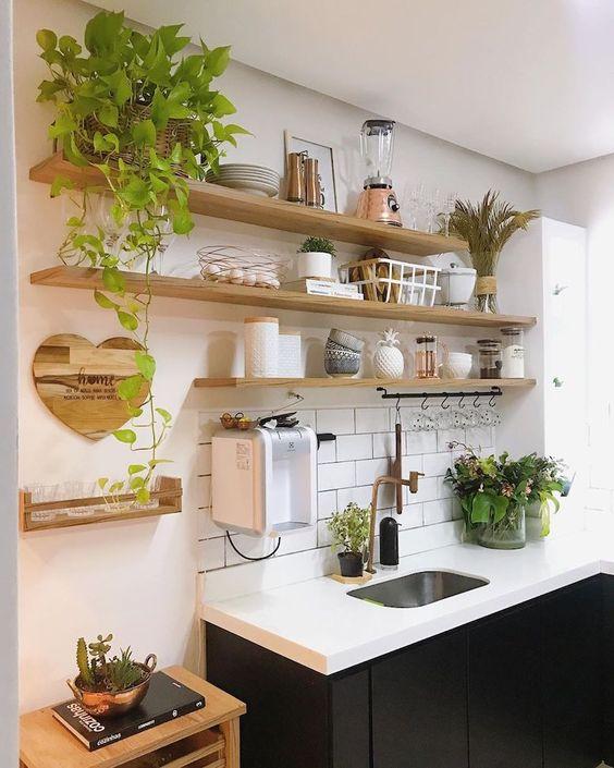 prateleiras para cozinha criativas
