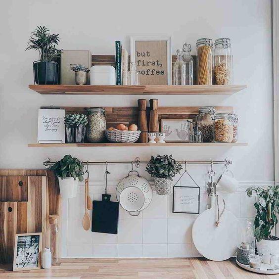 prateleiras para cozinha madeira
