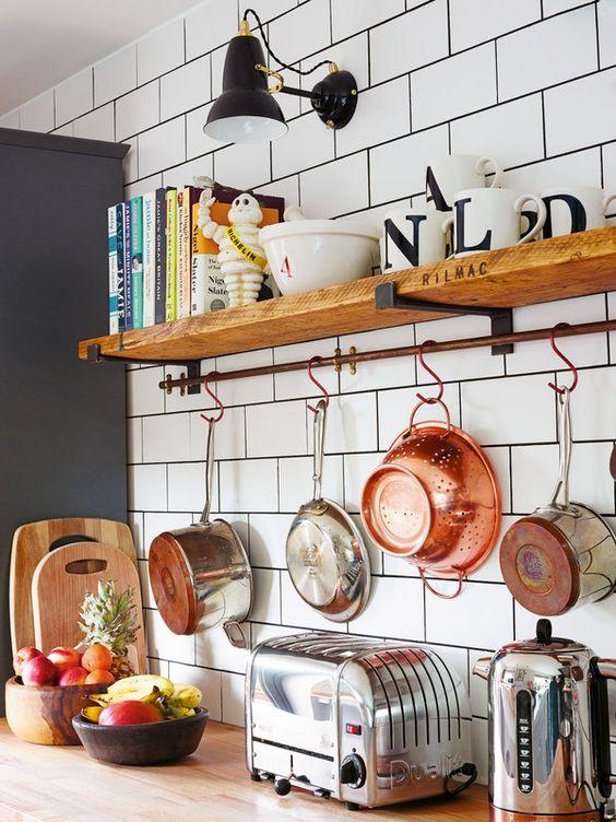 prateleiras para cozinha simples 1