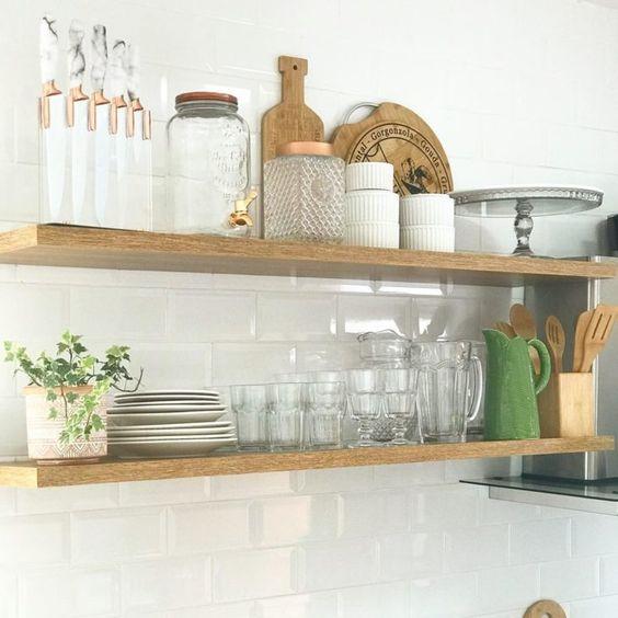 prateleiras para cozinha simples 2
