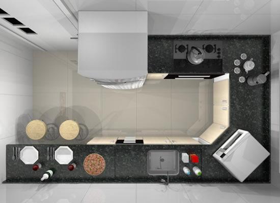 progeto de cozinhas planejadas para apartamento pequeno