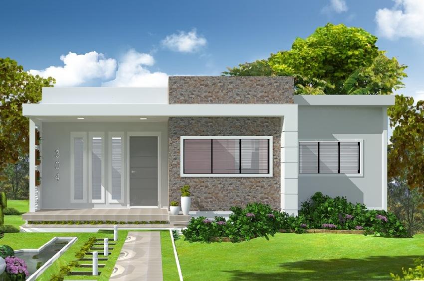 Casas modernas fachadas plantas e projetos for Casa moderna 60 m2