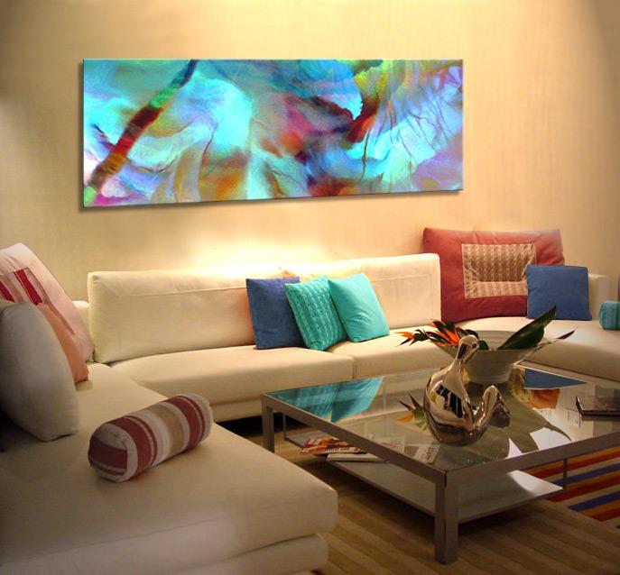 quadro abstrato sala de estar