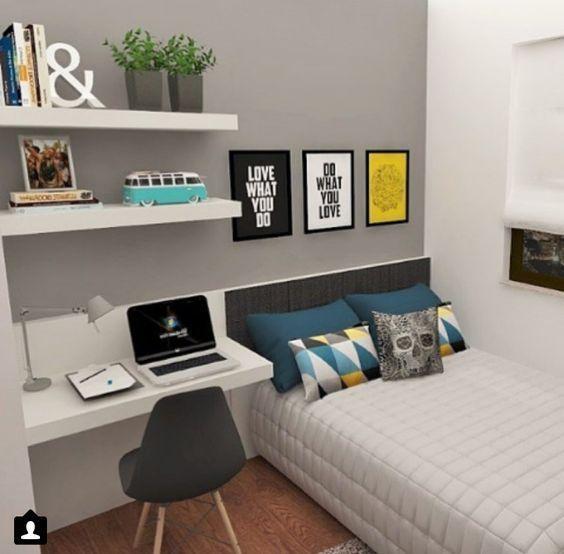 quarto adolescente masculino simples