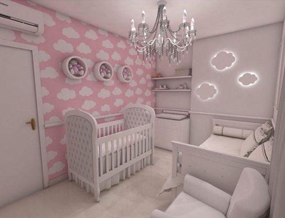 quarto bebe menina simples