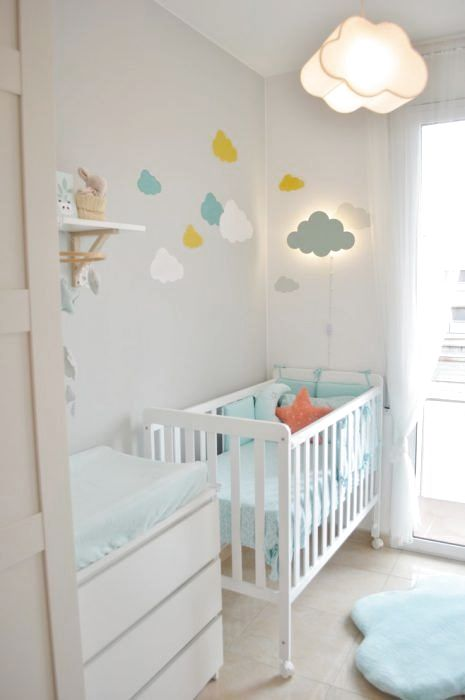 quarto bebe pequeno nuvens