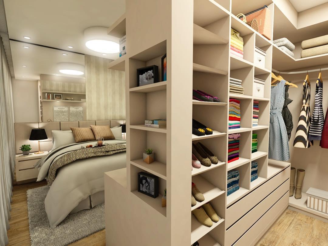 quarto com closet dicas ideias 5