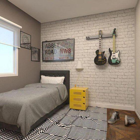 quarto com decoracao de rock 1