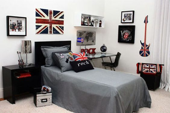quarto com decoracao de rock 3