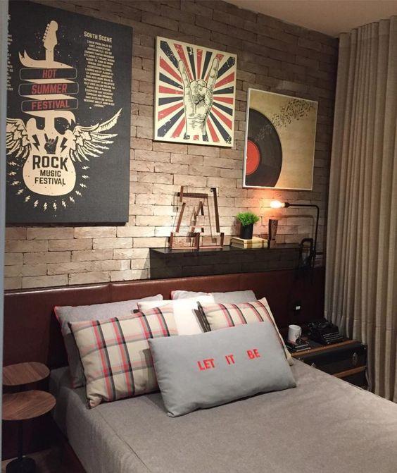 quarto com decoracao de rock 7