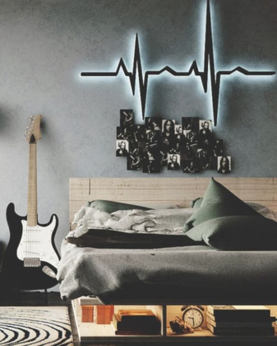 quarto com decoracao de rock 9