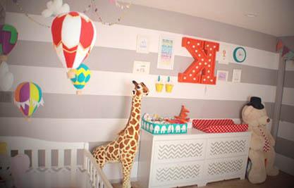 quarto de bebe com listras