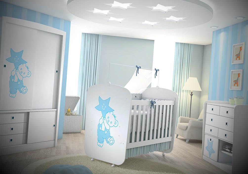 quarto de bebe completo encanto menino