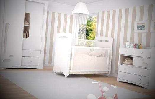 quarto de bebe decorado com listras