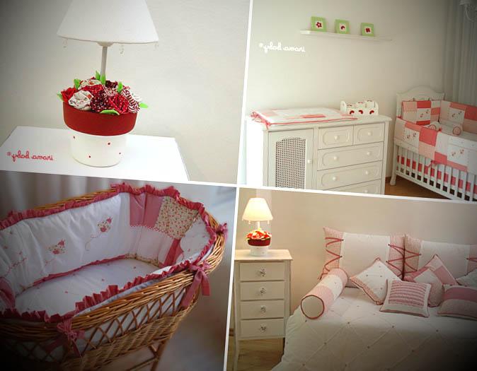 quarto de bebe vermelho