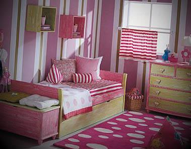 quarto de menina listras
