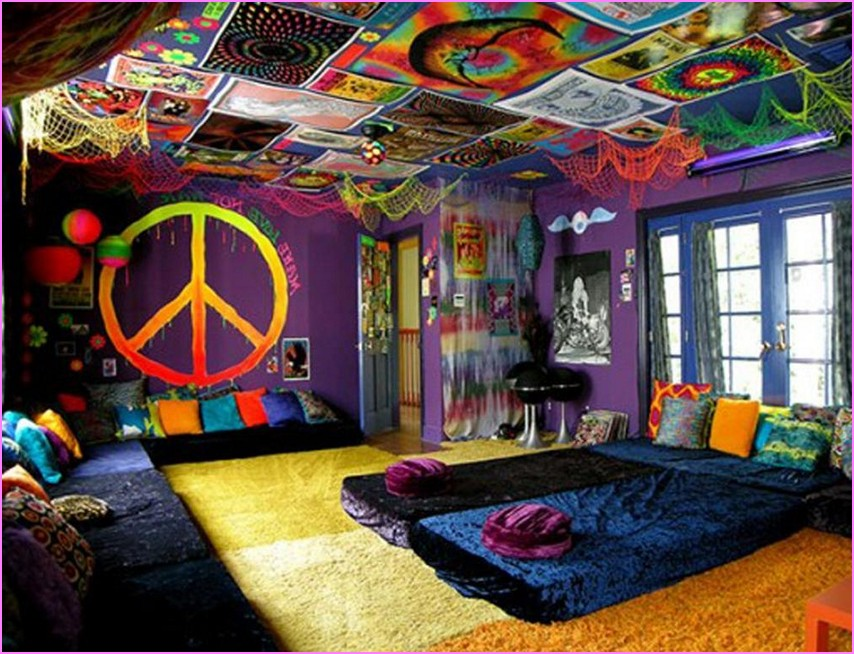 Decora o de quarto hippie for Casas hippies